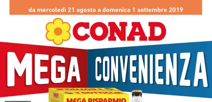 Nuovo volantino conad Cosenza e Rende da mercoledì 21 Agosto a Domenica 01 Settembre 2019.