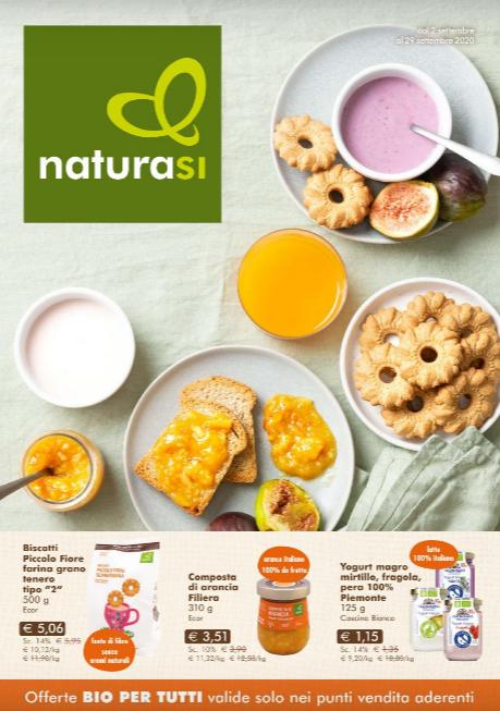 nuovo volantino NaturaSi con offerte valide da mercoledì 2 a martedì 29 Settembre 2020.