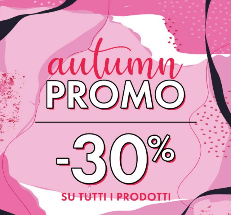 Corri da Pupa per approfittare della promozione della stagione autunnale: -30% su tutto il catalogo!!