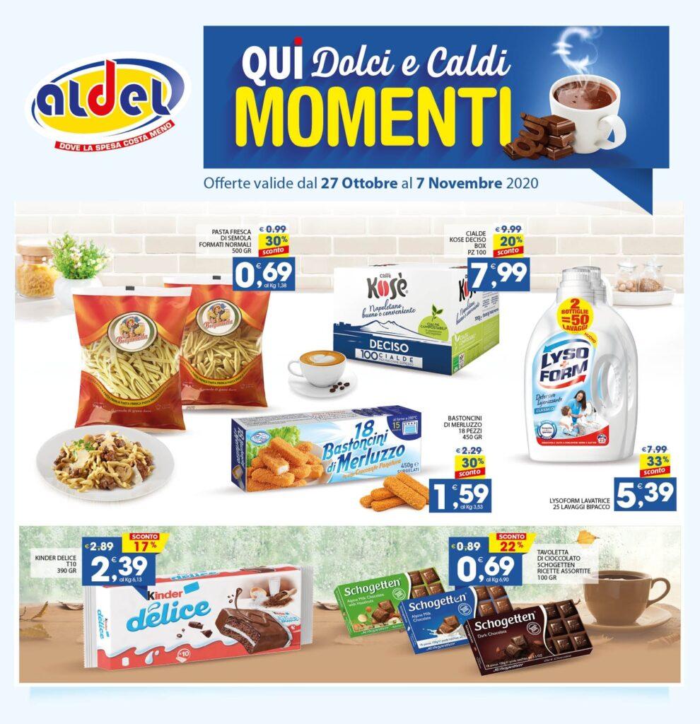 Nuovo volantino dei supermercati Aldel di Cosenza e provincia con offerte valide dal 27 Ottobre al 07 Novembre 2020