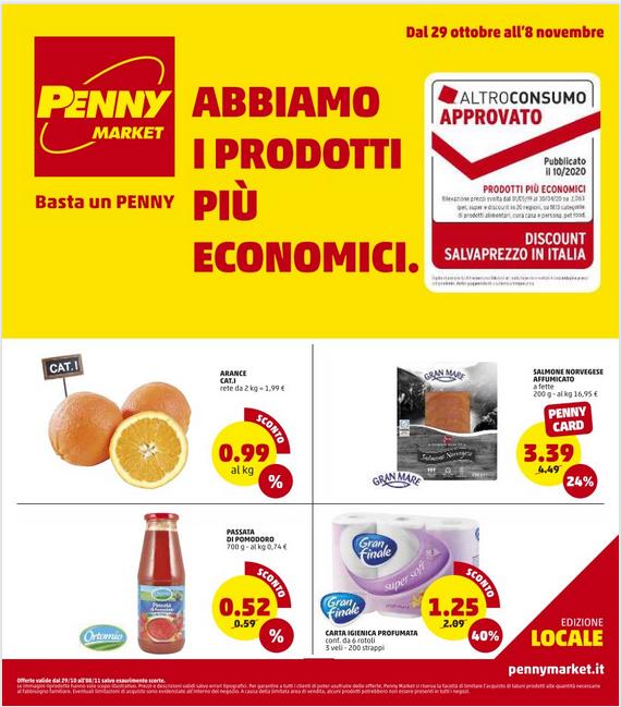 PENNY market 29 Ott - 08 Nov 2020