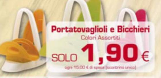 Puntoè Portatovaglioli e Bicchieri a solo 1,90€