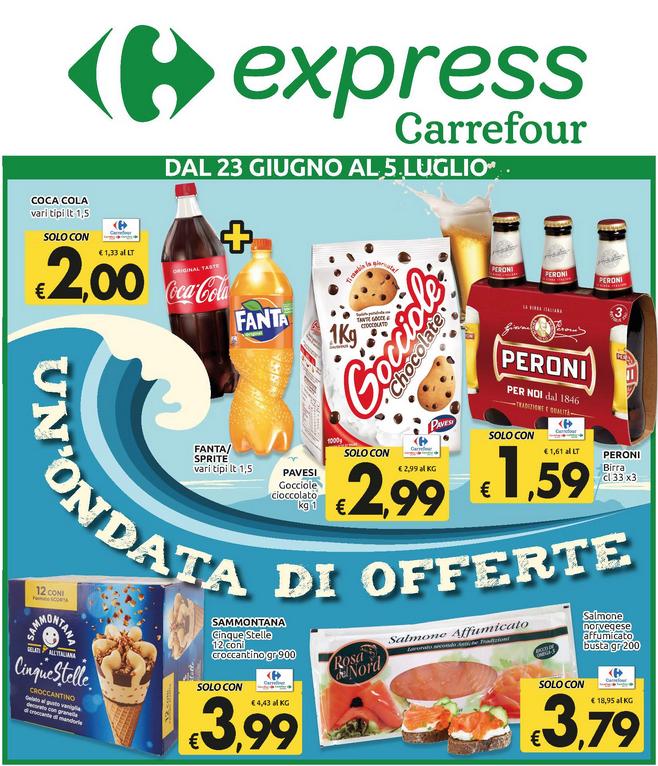Un'ondata di offerte al Carrefour express