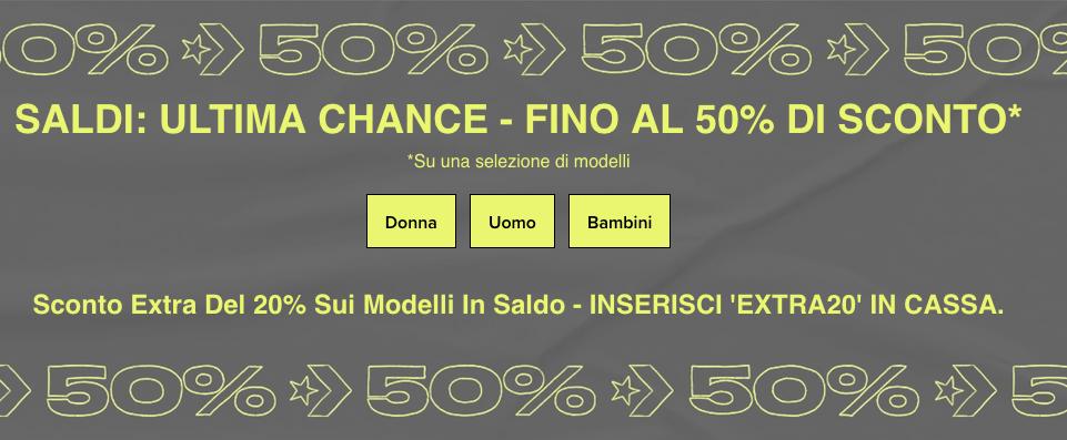 Saldi Converse: ultima chance per avere il 50% + extra20 di sconto!