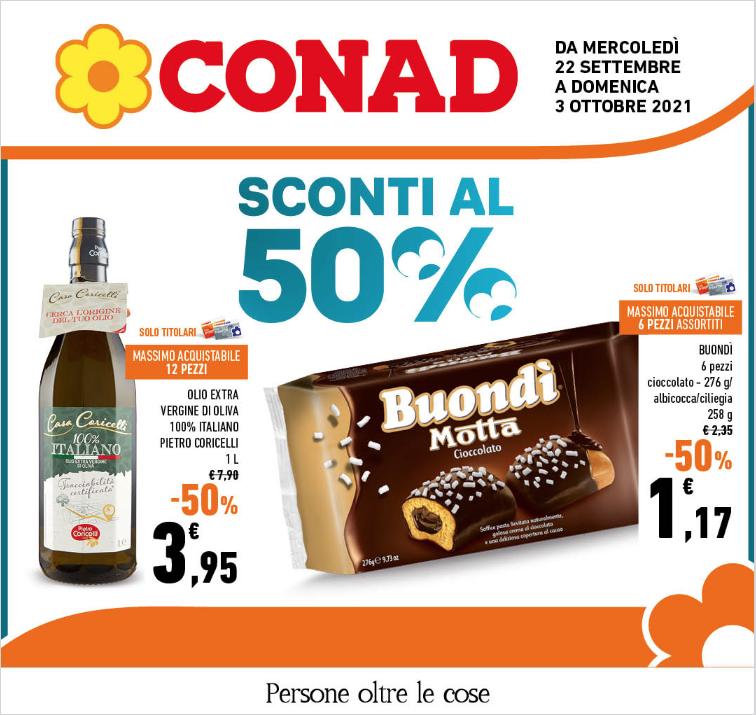 CONAD SCONTI AL 50%