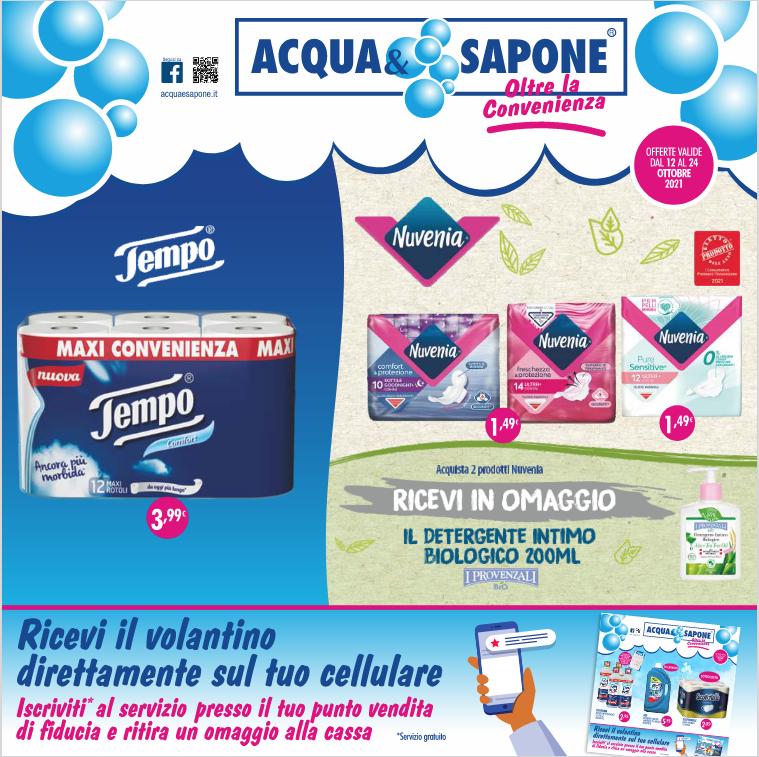 Volantino Acqua&Sapone fino al 24 Ottobre